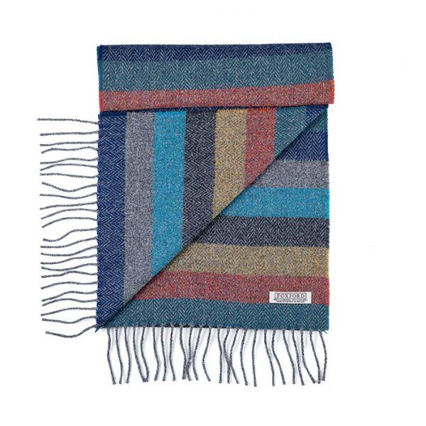Chapter One Foxford Amber Striped Scarf