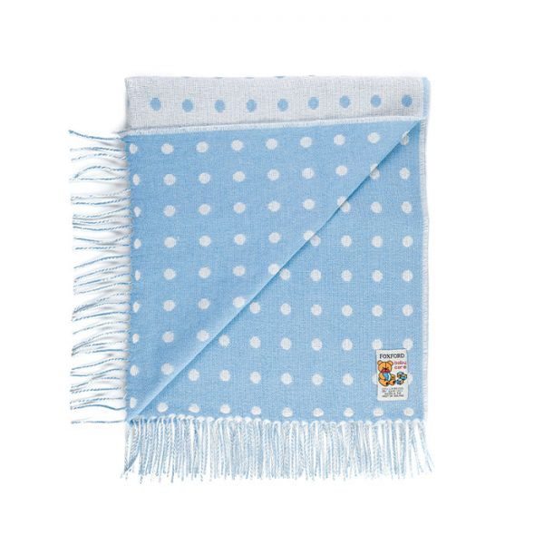 Chapter One Foxford Blue Baby Throw