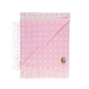 Chapter One Foxford Pink Baby Throw