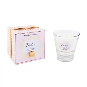 Chapter One Jardin Red Roses & Lemon Tipperary Crystal Candle