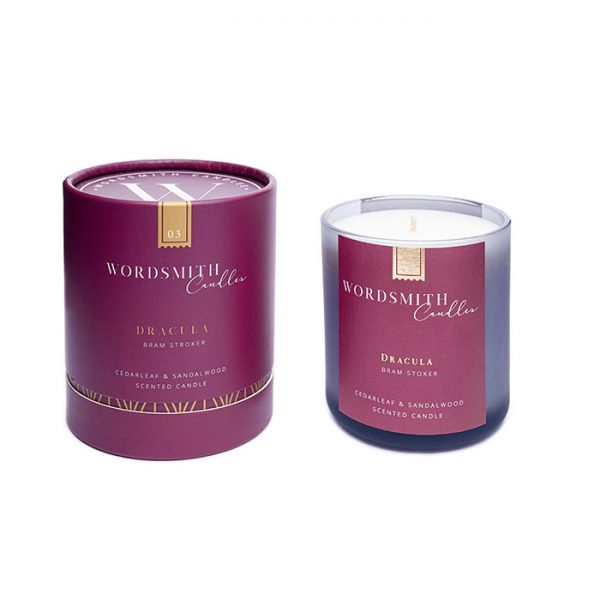 Chapter One Wordsmith Candles Dracula Cedarleaf & Sandalwood Scented Candle