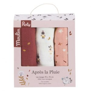Chapter One 3 Piece Moulin Cloth Set