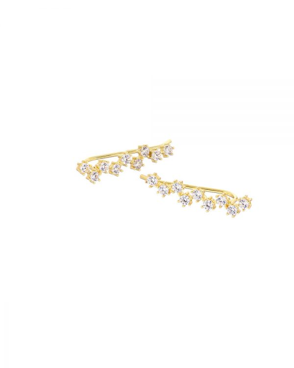 Chapter One Gold Cluster Earrings