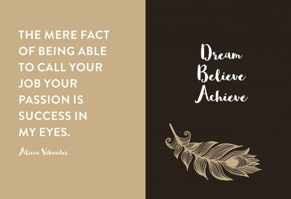 Chapter One Dream Believe Achieve Quote
