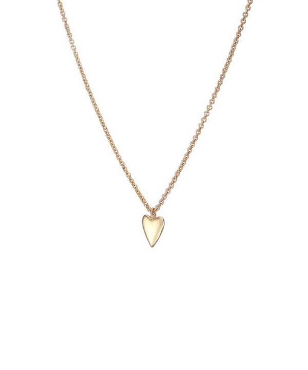 Chapter One Cavan Mary K Tiny Gold Vermeil Heart Necklace