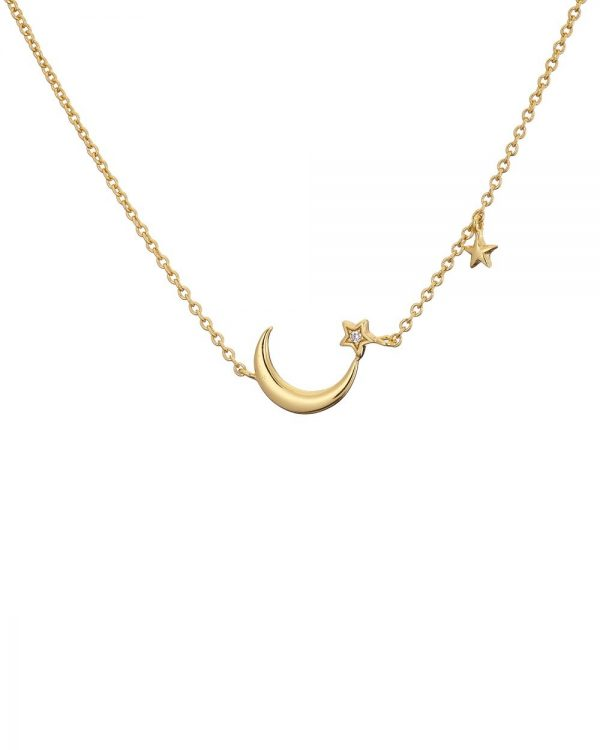 Chapter One Cavan Mary K Gold Moon + Two Star Necklace