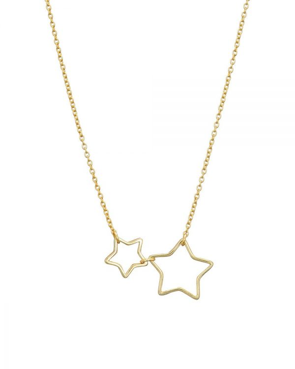 Chapter One Cavan Mary K Gold Open Two Star Necklace