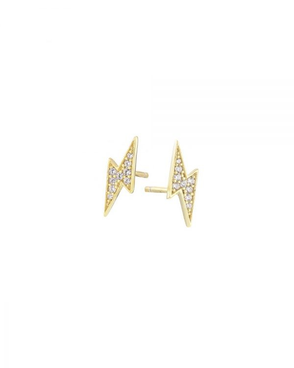 Chapter One Cavan Mary K Gold Pave Flash Stud