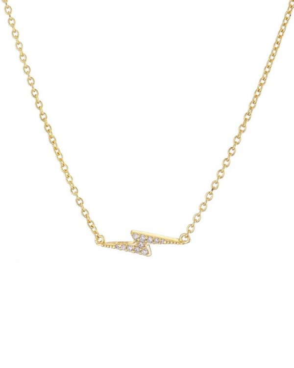 Chapter One Cavan Mary K Gold Vermeil Pave Bolt Necklace